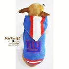 New York Giants Dog Hoodie, NFL Pet Clothes, NY GIANTS Dog Clothes K977 Myknitt