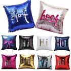 Magic Reversible Mermaid Sequins Cushion Glitter Cover Throw Pillow Case Decor