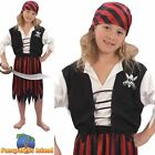 KIDS PIRATE DECK HAND BUCCANEER - Ages 3-10 - Girls Childs Fancy Dress Costume