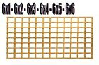 Heavy duty treated garden square trellis 6 foot wide various heights ONE POSTAGE