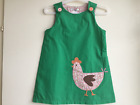 BABY GIRLS NEW EX MINI BODEN APPLIQUE PINAFORE DRESS 3-4 YRS DEFECTIVE SECONDS