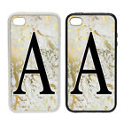 Marble Large Initials Custom  - Rubber and Plastic Phone Cover Case #2