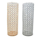 Tall Crystal Cylinder Candle Holder