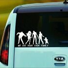 Zombie - We Ate Your Stick Family Vinyl Window Decal Sticker