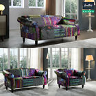 Patchwork Sofa Suite Set Sofas Fabric New Sofa ANNA RANGE couches settees Luxury