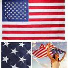 American Flag Embroidered Stars Sewn Stripes Brass Grommets Quality Oxford Nylon
