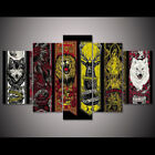 5 Panel Game Of Thrones House Flags Canvas HD Prints Painting Wall Art Decor