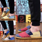 Canvas Patchwork Men Slip On Shoes Denim Sneakers Low Top Loafers Casual Flat