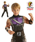 Hawkeye Avengers Assemble Boys Deluxe Costume Superhero Fancy Dress Outfit