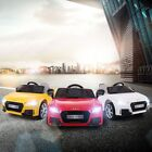 Audi TT 12V Electric Kids Ride On Car Licensed MP3 LED Lights RC Remote Control