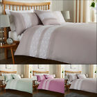 Lace Duvet Cover Set With Pillow Cases King Size Double Single Super Bedding New