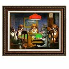 Dogs Playing Poker,Coolidge Oil Painting Reproduction, Wall Art Canvas Prints
