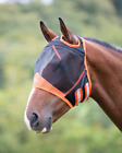 Shires Fine Mesh Fly Mask With Ear Holes - Black