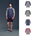 Anvil Tri-Blend 3/4 Sleeve Raglan Tee Baseball Jersey Casual Everday Shirt 6755 image