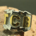 Stainless Steel Elvis Presley Tcb Band Ring Two Tone Signature Size 7 15 #9146