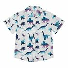 Bluezoo Kids 'Boys' Purple Dinosaur Print Short Sleeve Shirt