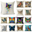 """18"""" Ink Painting Butterfly Throw Pillow Case Sofa Car Cushion Cover Home Decor image"""