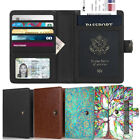 Passport Holder Ticket Organizer Credit Card Case Protector Cover Travel Wallet