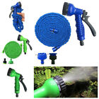 Latex 25 50 75 Feet Expandable Flexible Garden Water Hose with Spray Nozzle Pipe