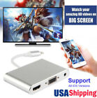 1080P Video Adapter For Lightning IPad to HDMI VGA TV for iPhone X 5 6S 7 8 Plus