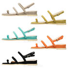 AnnaKastle Womens Colored Strappy Slide Flat Sandal Shoes