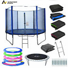 8 10 12 13 14FT Replacement Trampoline Pad Safety Net Springs Ladder Rain Cover
