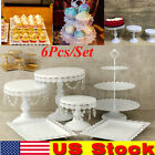 US Cake 6pcs Holder Cupcake Tower StandS Birthday Wedding Display Plates Wedding