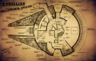 "007 Blueprint - Star Wars Millennium Falcon 37""x24"" Poster $7.09 USD on eBay"