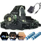 90000LM Zoomable Headlamp T6 LED Headlight Flashlight +Charger+18650 Battery USA
