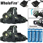 Kyпить 90000LM Zoomable Headlamp T6 LED Headlight Flashlight +Charger+18650 Battery USA на еВаy.соm