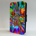 Illusion Trippy Psychedlic Colour FLIP PHONE CASE COVER for IPHONE SAMSUNG