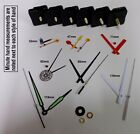 Replacement Quartz Clock Mechanism Movement Hands inc Luminous, DIY Repair Kit