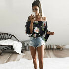 Fashion Women Summer Loose Casual Off Shoulder Shirt Crop Tops Blouse Ladies Top New with tags