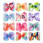 Girls Large Bowknot Hair Bow JoJo Hair Pins Alligator Clips Ribbon Hair Clip