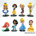 1 Pcs Lovely Disney Princess PVC Figure Cake Topper Collection Toy Doll Kid Girl