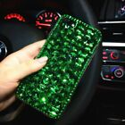 NEW DELUX COOL LUXURY BLING GREEN DIAMANTE CASE 4 VARIOUS MOBILE PHONES 6 7 8 9