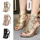 Women's Classics Stilettos Pumps Sandals Angel Wings Straps Heels Shoes Open Toe