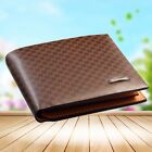 Men's Leather Briefcase Wallet Pocket Card Holder Clutch Bag Bifold Slim Purse