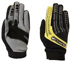 Buffalo Focus Mens Black Yellow Leather Textile Motocross Motorcycle Gloves