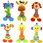 Baby Hanging Toy Cartoon Animal Teether Rattle Hand Bell Plush Stroller TH