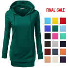 plum trampoline sale - [FINAL SALE]Ninexis Long Sleeve Deep V-Neck Long Tunic Sweatshirt