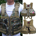 New Camping Boat Buoyancy Aid Sailing Kayak Fishing Life Jacket Vests Camouflage
