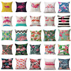Flamingo Cotton Linen Pillow Case Throw Cushion Cover Valentine's Day Home Decor image