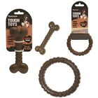 Rosewood Nylabone Type Nylon Dog Chocolate Chew Bone or Ring Flavoured Tough Toy