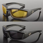 2 PR COMBO Chopper Padded Wind Resistant Sunglasses Motorcycle Riding Glasses X2