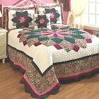 Peacock Quilted Bedspread Woven Cotton/Polyester with Polyester Fiber fill NEW image
