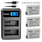Kastar Battery LCD Dual Charger for Canon LP-E8 LC-E8 & Canon EOS Kiss X6 Camera