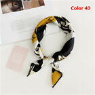 Women Elegant Square Silk Feel Satin Scarf Small Vintage Head-Neck Hair Tie Band