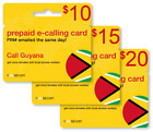 Cheap International calling card for Guyana with emailed PIN