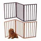 "24"" Folding Solid Pet Dog Fence Playpen Gate 3 Panel Free Standing Indoor"